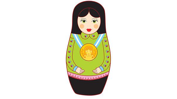 בבושקה עם מדליית זהב